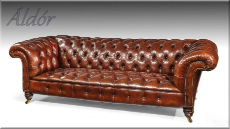 chesterfield bőrgarnitúra